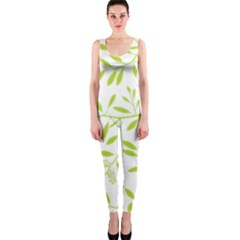 Leaves Pattern Seamless Onepiece Catsuit by Simbadda