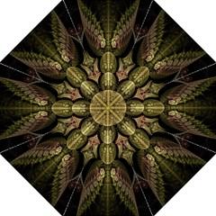 Fractal Abstract Patterns Gold Straight Umbrellas by Simbadda