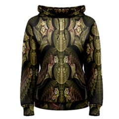 Fractal Abstract Patterns Gold Women s Pullover Hoodie by Simbadda