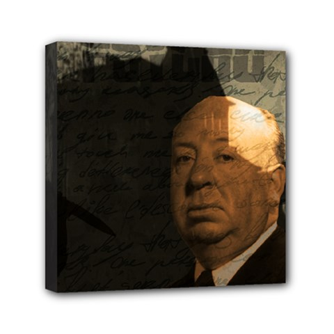 Alfred Hitchcock   Psycho  Mini Canvas 6  X 6  by Valentinaart