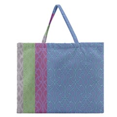Fine Line Pattern Background Vector Zipper Large Tote Bag by Simbadda