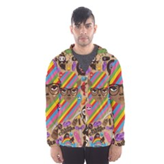 Background Images Colorful Bright Hooded Wind Breaker (men) by Simbadda