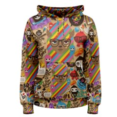 Background Images Colorful Bright Women s Pullover Hoodie by Simbadda