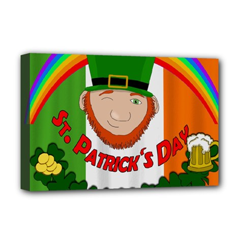 St  Patricks Day  Deluxe Canvas 18  X 12   by Valentinaart
