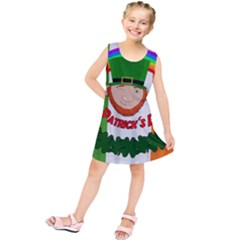 St. Patricks day  Kids  Tunic Dress by Valentinaart