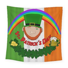 St  Patricks Day  Square Tapestry (large) by Valentinaart