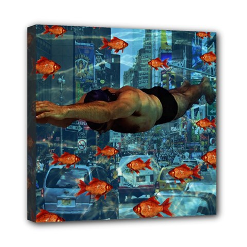 Urban Swimmers   Mini Canvas 8  X 8  by Valentinaart