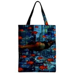 Urban Swimmers   Zipper Classic Tote Bag by Valentinaart