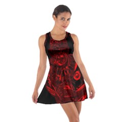 Warrior - red Cotton Racerback Dress