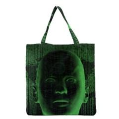 Code  Grocery Tote Bag by Valentinaart