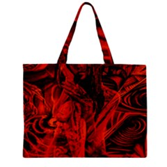 Red Girl Zipper Mini Tote Bag by Valentinaart