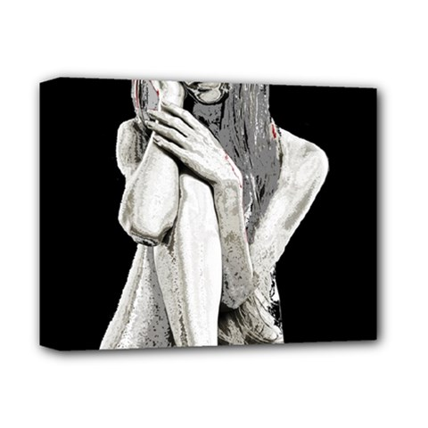 Stone Girl Deluxe Canvas 14  X 11  by Valentinaart