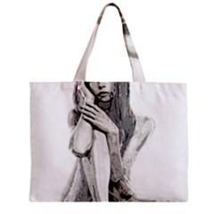 Stone Girl Zipper Mini Tote Bag by Valentinaart