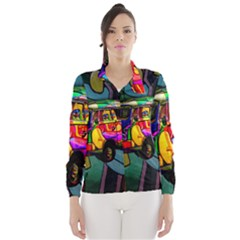 Hippie Van  Wind Breaker (women) by Valentinaart