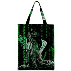 Cyber Angel Zipper Classic Tote Bag by Valentinaart
