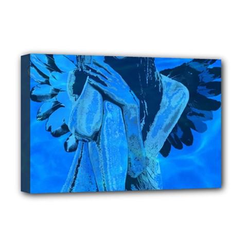 Underwater Angel Deluxe Canvas 18  X 12   by Valentinaart
