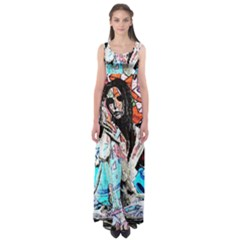 Graffiti Angel Empire Waist Maxi Dress by Valentinaart