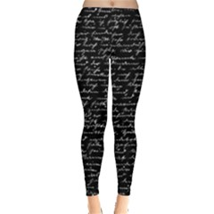 Handwriting  Leggings  by Valentinaart