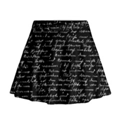 Handwriting  Mini Flare Skirt by Valentinaart