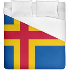 Flag of Aland Duvet Cover (King Size)