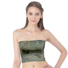 Vintage Background Green Leaves Tube Top