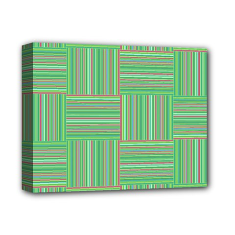 Geometric Pinstripes Shapes Hues Deluxe Canvas 14  X 11  by Simbadda
