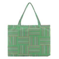 Geometric Pinstripes Shapes Hues Medium Tote Bag by Simbadda