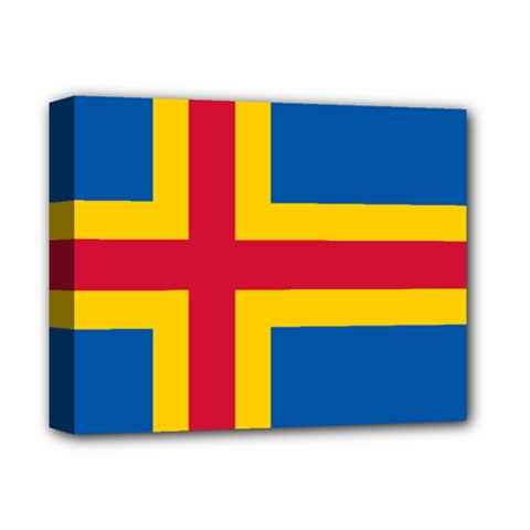 Flag Of Aland Deluxe Canvas 14  X 11  by abbeyz71