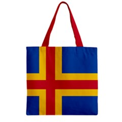 Flag Of Aland Zipper Grocery Tote Bag by abbeyz71