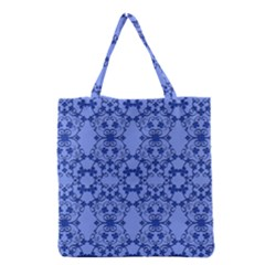 Floral Ornament Baby Boy Design Retro Pattern Grocery Tote Bag by Simbadda