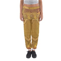 Vintage Scrapbook Old Ancient Retro Pattern Women s Jogger Sweatpants by Simbadda
