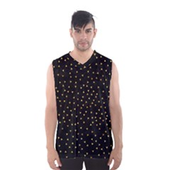 Grunge Retro Pattern Black Triangles Men s Basketball Tank Top by Simbadda