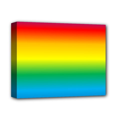 Rainbow Background Colourful Deluxe Canvas 14  X 11  by Simbadda