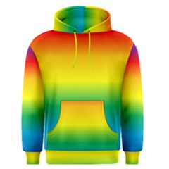Rainbow Background Colourful Men s Pullover Hoodie by Simbadda