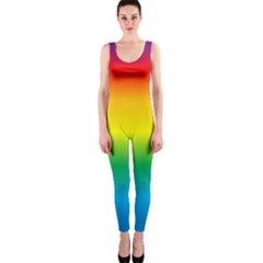 Rainbow Background Colourful Onepiece Catsuit by Simbadda