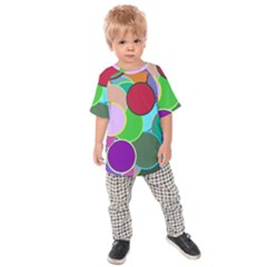 Dots Circles Colorful Unique Kids  Raglan Tee