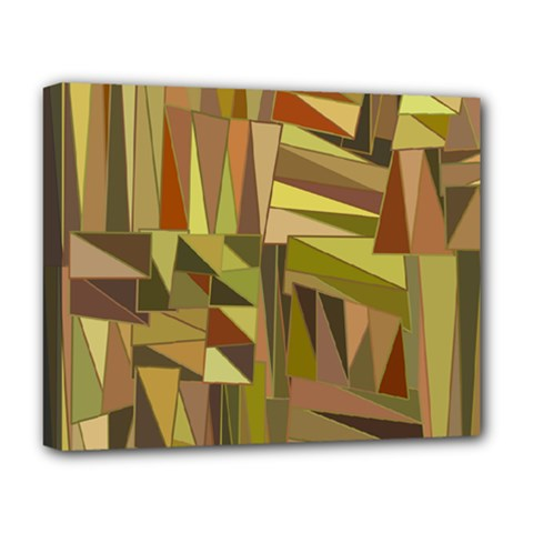 Earth Tones Geometric Shapes Unique Deluxe Canvas 20  X 16   by Simbadda