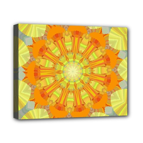 Sunshine Sunny Sun Abstract Yellow Canvas 10  X 8