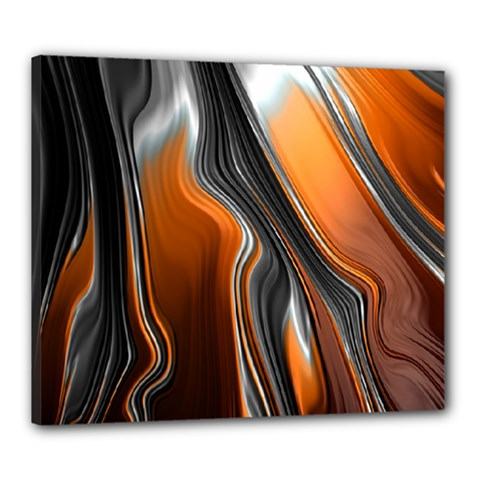 Fractal Structure Mathematics Canvas 24  X 20  by Simbadda