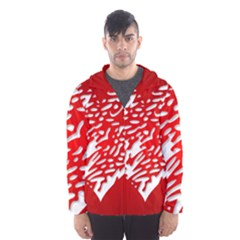 Heart Design Love Red Hooded Wind Breaker (Men) by Simbadda