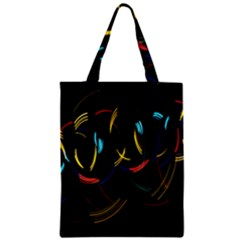 Yellow Blue Red Arcs Light Zipper Classic Tote Bag by Alisyart