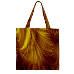 Flower Gold Hair Zipper Grocery Tote Bag by Alisyart