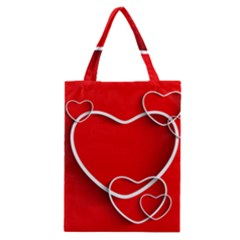 Heart Love Valentines Day Red Classic Tote Bag by Alisyart