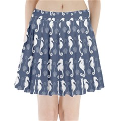 Seahorse And Shell Pattern Pleated Mini Skirt by Simbadda