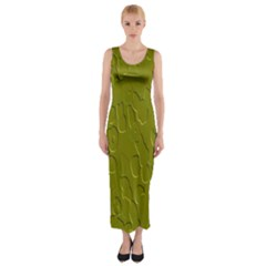 Olive Bubble Wallpaper Background Fitted Maxi Dress by Simbadda