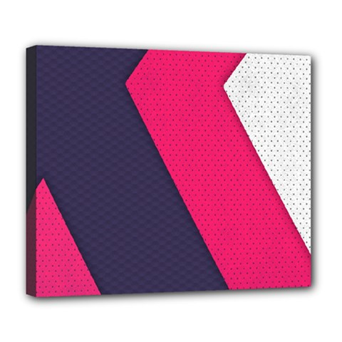 Pink Pattern Deluxe Canvas 24  X 20   by Simbadda