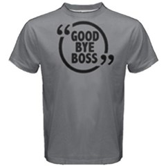 Goodbye Boss   Men s Cotton Tee by FunnySaying