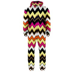 Colorful Chevron Pattern Stripes Pattern Hooded Jumpsuit (men)  by Simbadda
