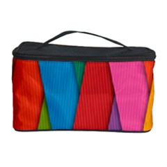 Colorful Lines Pattern Cosmetic Storage Case by Simbadda