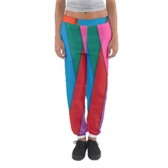 Colorful Lines Pattern Women s Jogger Sweatpants by Simbadda